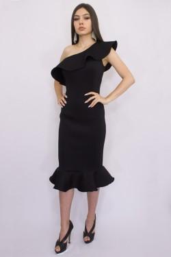 Rochie neagra din neopren
